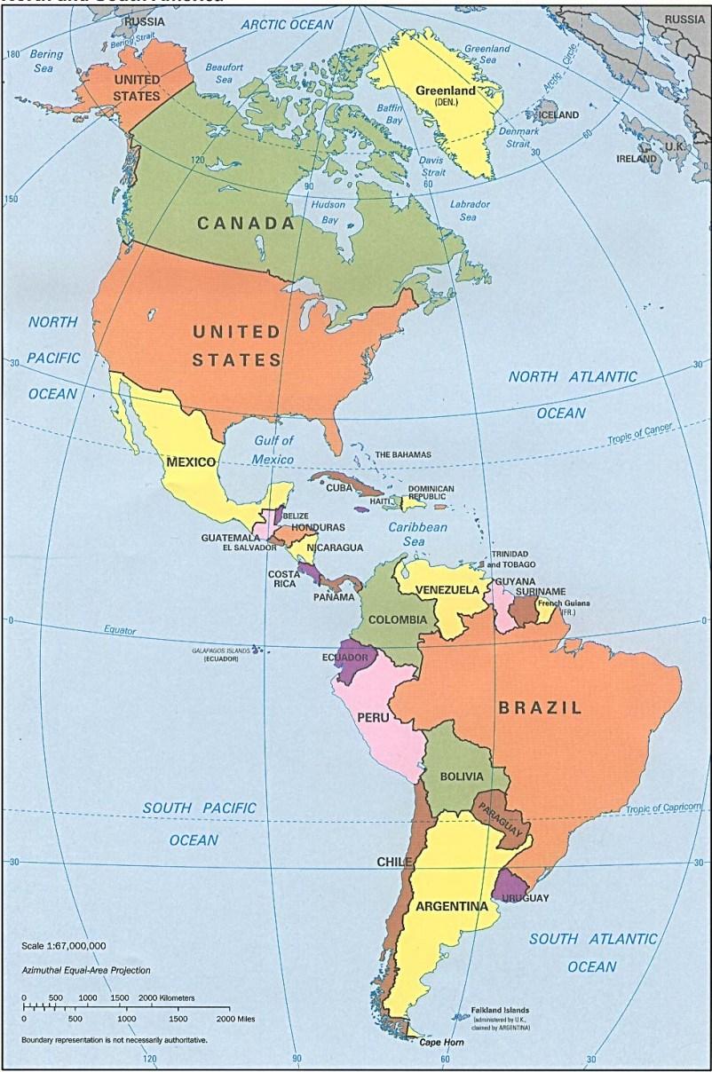 Cules son los nombres de los paises del continente americano
